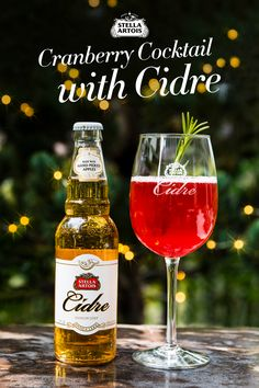 If you're looking to make a splash this holiday season, cranberries and apples are two ingredients sure to put a twist on your typical cocktail.  This cranberry Stella Artois Cidre combination is sure to help you get into the holiday spirit. After all, holiday cheer tends to go hand in hand with holiday cheers.