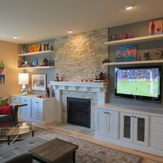 fire place ebtertanment tv off to side - Google Search