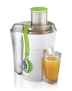 Hamilton Beach Powerful 800W Big Mouth Countertop Juice Extractor, Green 67602A