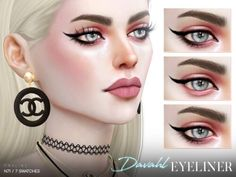 Davahl Eyeliner N71 by Praline Sims for The Sims 4