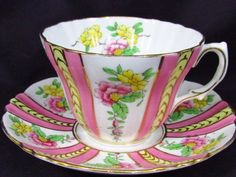 Royal Albert RARE Shape HP Floral Pink
