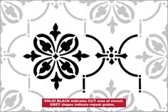 Gothic Repeat stencil from The Stencil Library BUDGET STENCILS range. Buy stencils online. Stencil code CS90R.