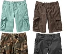 """MENS OLD NAVY DK BROWN GRAY ECHINACEA BLUE CAMO AUTHENTIC CARGO 10"""" SHORTS 28 42 #OldNavy #Cargo"""