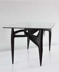 Important and Sculptural Unique Ico Parisi and Fontana Arte Dining Table, 1950 3