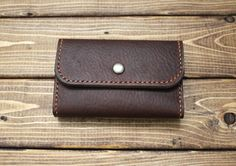 Business / Credit Card Holder Wallet by ZenokLeather on Etsy
