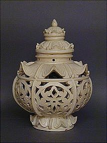 Sukhothai-style Ceramic Lantern from Silk Road Gallery