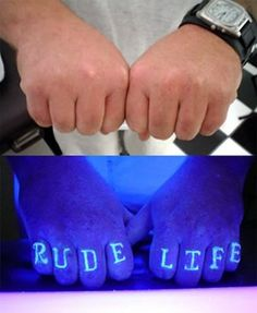 UV tattoos are becoming the latest craze within the tattoo group. For many people getting a UV tattoo is the best of both worlds; Uv Tattoo, Neon Tattoo, Dark Tattoo, Black Light Tattoo, Uv Black Light, Black Lights, Subtle Tattoos, Cool Tattoos, Sweet Tattoos