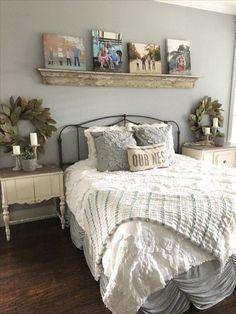 30 Perfect Bedroom Decor Ideas With Farmhouse Style. If you are looking for Bedroom Decor Ideas With Farmhouse Style, You come to the right place. Below are the Bedroom Decor Ideas With Farmhouse Sty. Small Master Bedroom, Master Bedroom Design, Cozy Bedroom, Bedroom Ideas, Modern Bedroom, Kids Bedroom, Stylish Bedroom, Contemporary Bedroom, Master Bedrooms