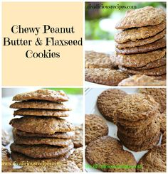 Chewy Peanut Butter & Flaxseed Cookies Peanut butter and ground flaxseed come together to make a healthy and filling cookie. Gluten free and low in carbs these cookies are a great snack. Low Carb Sweets, Low Carb Desserts, Low Carb Recipes, Baking Soda Substitute, Sugar Substitute, Seed Cookies, Banana Oatmeal Pancakes, Gluten Free Wraps, Flax Seed Recipes