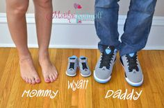 Mommy daddy baby shoes. Maternity pregnancy idea. Adorable. Precious.