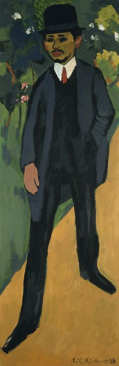 Ernst Ludwig Kirchner, Portrait of Erich Heckel, 1910 © Courtesy of Osthaus Museum Hagen