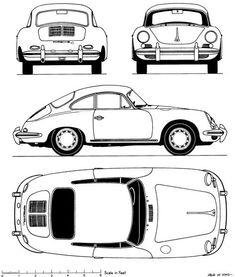 Orthographic drawing of car. Rosalia Febyola Puspita Hadi