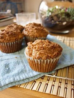 banana cinnamon bread muffins- another way to use all the bananas coming off of the banana tree in the Manna houses backyard