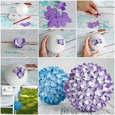 How to assemble your tissue pom pom balls pinterest tissue paper creative ideas diy paper flower kissing ball for wedding by christa mightylinksfo