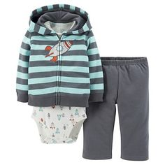 Just One You™Made by Carter's® Newborn Boys' 3 Piece Stripe Rocket Set