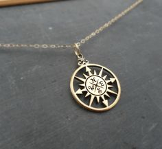 Compass necklace Graduation gift compass charm by BriguysGirls, $35.50
