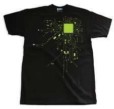 CPU MOTHERBOARD HEART ROBOT NERD  T-SHIRT COMPUTER GEEK TECHIE