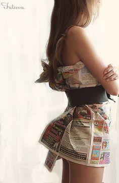 Newspaper Dress. Would you wear it?