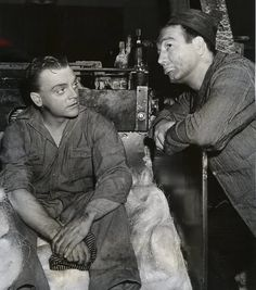 James Cagney with Max Rosenbloom filming each dawn i die