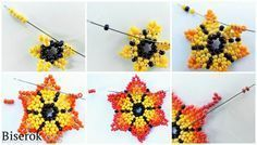 Mexican Sunrise 1 - My Recommendations Seed Bead Flowers, Beaded Flowers, Seed Beads, Fuse Beads, Perler Beads, Beading Techniques, Beading Tutorials, Peyote Patterns, Beading Patterns