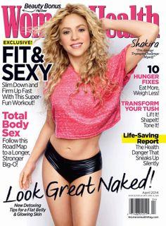 Shakira na capa da revista Women's Health. Shakira on the cover of Woman's Health magazine. Adele Weight, Womens Health Magazine, Trainer, How To Slim Down, Health Motivation, Exercise Motivation, Anorexia, Celebs, Celebrities