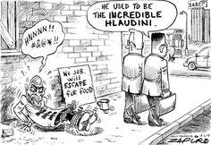 Red-eye to Oblivion - Zapiro Oblivion, Red Eyes, The Incredibles, Comics, Prints, Cartoons, June, Politics, Bloodshot Eyes