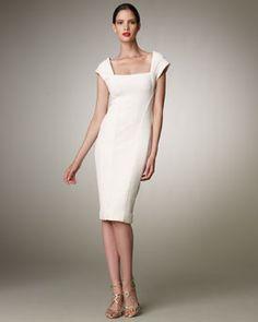 B1M8U Donna Karan Trapunto-Stitch Dress