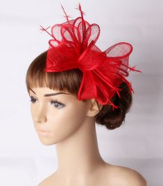 c4db723d US $23.74 5% OFF red sinamay fascinator hats good bridal wedding hats gril cocktail  hat Very nice black millinery Free shipping 20color available-in Women's ...