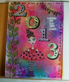 art journal pages pinterest | My first art journal page! | Dylusions