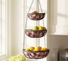 Delightful Cucina Hanging Basket From Pottery Barn For Our New House....Weu0027