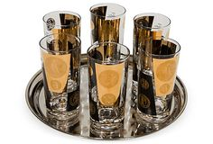 Maddie Sadofski   Vintage Coin Bar Glass Set