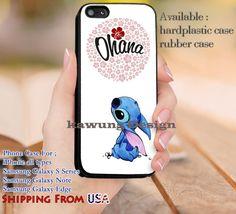 Ohana Lilo and Stitch Quotes iPhone 6s 6 6s  5c 5s Cases Samsung Galaxy s5 s6 Edge  NOTE 5 4 3 #cartoon #animated #disney #Lilo&Stitch dl13