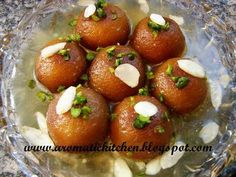 Gulab Jamun is a popular dessert in countries of the Indian Subcontinent such as India, Pakistan, Sri Lanka, Nepal and Bangladesh. It is made of a dough consisting mainly of milk solids. Traditionally, khoya, an Indian milk product (buffalo milk) is rolled into a ball together with some flour and then deep fried, but at a low temperature of about 300°F.It is then put into a sugar syrup flavored with cardamom seeds and rosewater, kewra or saffron.