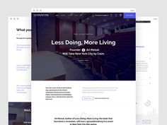 Less Doing, More Living - Home Page by Damian Watracz for James T.E. Cook Publishing