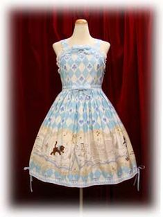 """Baby the Stars Shine Bright » Jumper Skirt » """"Cute Meowing Friend"""" Alice and Black Cat Print JSK II"""