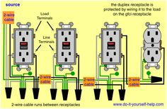 Basic electrical wiring diagrams deck lights outlets 100 gfci wiring to protect a receptacle asfbconference2016 Gallery
