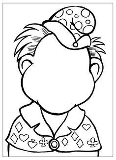 Розмальовки Дорисуй і розфарбуй домалюй і розфарбуй, домалюй особа, клоун