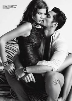 David Gandy in a photo shoot with his ex.