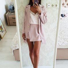 De las mujeres de la moda trajes de falda de botón con muescas chaqueta  Blazer a 5f07222421dc