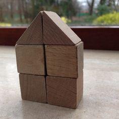 Bouwen met kubus en halve kubus. 2.
