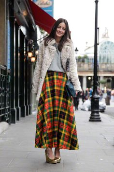 plaid maxi in london...... i don't know why I love this, but I totally do