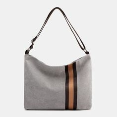 Women Canvas Patchwork Large Capacity Crossbody Bag As low as $40.00 Trendy Handbags, Fashion Handbags, Purple Fashion, Party Bags, Cute Bags, Black And Brown, Black White, Clothes For Sale, Evening Bags