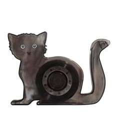 Cat-shaped tape dispenser in plastic. Includes one roll of tape.
