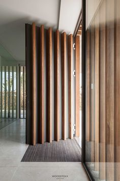 Take a look at this amazing craftsman front doors - what an innovative concept Modern Entrance Door, Modern Exterior Doors, Modern Front Door, House Entrance, Entry Doors, Pivot Doors, Entrance Gates, Door Design Interior, Main Door Design