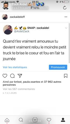 J'm pas te voir mater un autre c.l que le mien . Bff Quotes, Sassy Quotes, Love Quotes, Motivational Quotes, French Quotes, Bad Mood, Love Life, True Stories, It Hurts