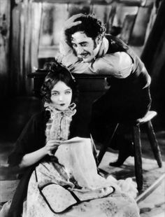 """...John Gilbert, and Lillian Gish in """"La Boheme"""" (1927)...she went without water for a day or two so she would have the starving, dying look of Mimi..."""