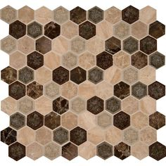 MS International Kensington Hexagon 12 in. x 12 in. x 8 mm Glass Stone Mesh-Mounted Mosaic Wall Tile (10 sq. ft. / case)-SGLSGG-KENSINGT at The Home Depot