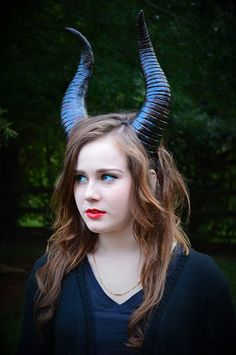 Maleficent inspired black bull sheep horns headband by BociArt, $40.00