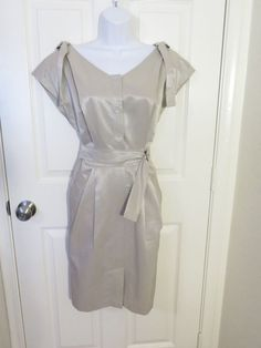 Yoana Baraschi Nordstram Shimmer Beige Dress w/Pockets- size 8 #YoanaBaraschi