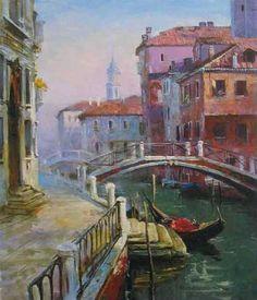 Venice by Elena Komarova - oil on canvas